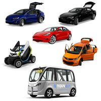 Rigged Electric Cars Collection