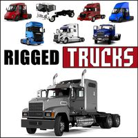 Rigged Trucks 3D Models Collection 2