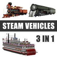 Steam Vehicles 3D Models Collection