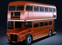 Old-bus AEC Routemaster 3D model   London Routemaster