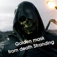 Golden mask from Death Stranding for 3d print