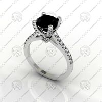 Diamond Ring 4 Prong Pave 68