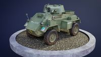 Humber Armoured Car game-ready model