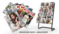 Magazine Rack with Magazines