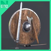 Viking one handed weaponry set