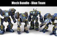 Mech Bundle - Blue Team