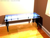 Glass writing desk 3D Model