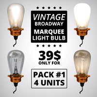 Vintage Broadway Marquee Light Bulb PACK#1