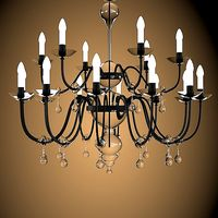 luminare traditional classic chandelier glass crystal