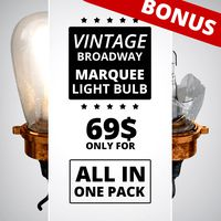 Vintage Broadway Marquee Light Bulbs ALL IN ONE PACK
