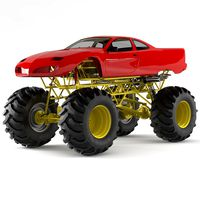 Red Monster Truck