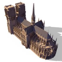 Notre Dame Gothic Cathedral