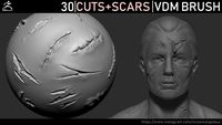 Zbrush - Cuts and Scars VDM Brush