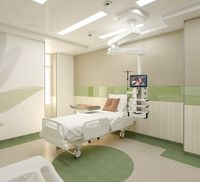 ICU hospital patient room
