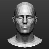 Base mesh male head