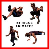 Fitness Male Gym Sports 23 Animated Rigged