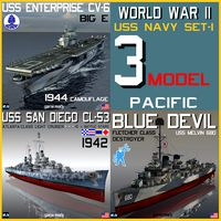 USS NAVY WW II Pacific Set-1