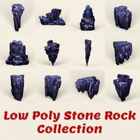Low Poly Stone Rock Collection