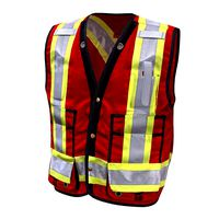 Safety Vest Construction Reflective PPE Red