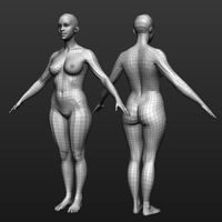 Base mesh female body
