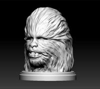 head Chewbacca from Star Wars