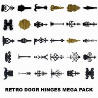 Retro door (gate) hinges mega pack