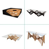 Wooden Graphic Tables And Consoles