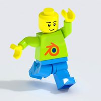 Lego Minifigure - Fully Biped Rigged