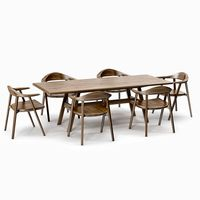 BassamFellows Mantis Side Chair & Kant Table