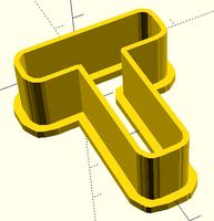 T Y S N A B Symbol parametric model of cookie cutter
