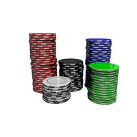 Pile of differents Casino Tokens or Chips