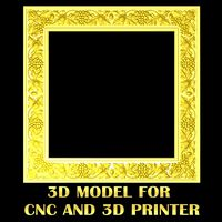Frame with grape - High quality 3D models for CNC model