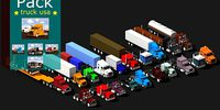 Low Poly Truck Usa Pack