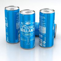 Beverage Can Recoaro Acqua Brillante Tonica Italiana 330ml Tall 2019
