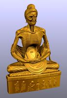 Fasting Buddha Mesh Solid Data For 3D printer