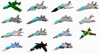 15 Pixelated aircrafts