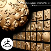 29 VDM Brushes of Decor ornaments for ZBrush