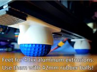 Ender 3 feet for 42mm rubber or foam balls