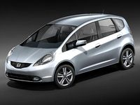 Honda Jazz   Fit   2009 3D Model