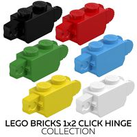 Lego Bricks 1x2 Click Hinge Collection