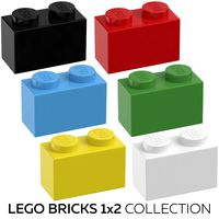 Lego Bricks 1x2 Collection