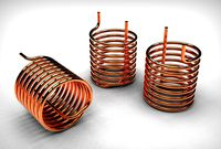 Helical pipe coil