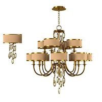John Richard Counterpoint art deci twelwe Chandelier Ajc 8816 and wall lamp 8818