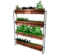Realistic copper indoor vertical farming