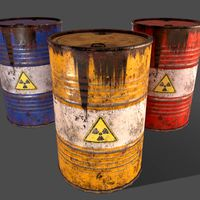 PBR Oil Drum Barrel A4 - Radioactive Radiation