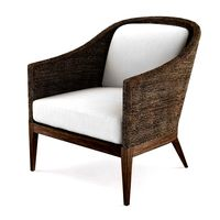 Restoration Hardware MARISOL SEAGRASS SLOPE ARM CHAIR