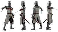 Crusader Knight Templar with Sword