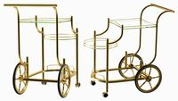 Luxury Golden Serving Trolley