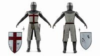 Knight Templar T-Pose Set