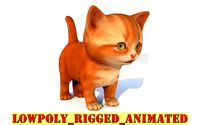 Cute cat rigg animated lowpoly